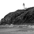 Beach View of North Head Lighthouse Poster by Robert Bales