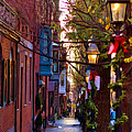 Beacon Hill Streets Print by Joann Vitali