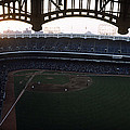 Beatiful View Of Old Yankee Stadium Print by Retro Images Archive