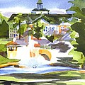 Beautiful Day at the Baptist Home of the Ozarks in Watercolor Poster by Kip DeVore