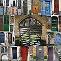 Beautiful Doors in London France and Belgium Print by Cathy Jacobs
