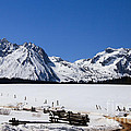 Beautiful Sawtooth Mountains Print by Robert Bales