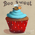 Bee Sweet Cupcake Print by Catherine Holman