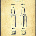 Beer Bottle Patent Drawing from 1934 - Vintage Print by Aged Pixel