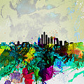 Beijing Watercolor Skyline Print by Irina  March