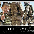 Believe Inspirational Quote Poster by Stocktrek Images