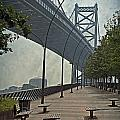 Ben Franklin Bridge and Pier Print by Tom Gari Gallery-Three-Photography