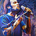 Ben Harper and Mic Print by Joshua Morton