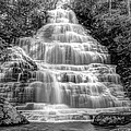 Benton Falls in Black and White Poster by Debra and Dave Vanderlaan