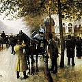 Beraud, Jean 1849-1935. The Boulevards Poster by Everett