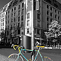 Berlin Street View With Bianchi Bike Poster by Ben and Raisa Gertsberg
