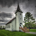 Bethany Prairie Church Print by David Foster