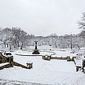 Bethesda Fountain In Central Park Print by Susan Candelario