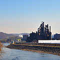 Bethlehem Steel and the Lehigh River Print by Bill Cannon