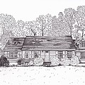 Betsy's House Print by Michelle Welles
