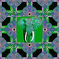 Big Elephant Abstract Window 20130201p128 Print by Wingsdomain Art and Photography