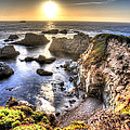 Big Sur Sunset Print by Shawn Everhart