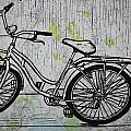 Bike 5 on map Poster by William Cauthern