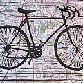 Bike 8 on Map Poster by William Cauthern
