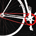 Bike In Black White And Red No 2 Poster by Ben and Raisa Gertsberg