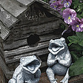 Birdhouse with Frogs Poster by Bonnie Willis