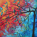 Birds and Blossoms by MADART Poster by Megan Duncanson