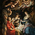 Birth of Christ Adoration of the Shepherds Poster by Peter Paul Rubens