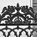 Black and White Ironwork Print by Alys Caviness-Gober