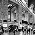 Black and White Pano of Grand Central Station - NYC Print by David Smith