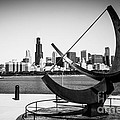 Black and White Picture of Adler Planetarium Sundial Print by Paul Velgos