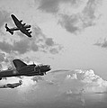 Black and white retro image of Batttle of Britain WW2 airplanes Poster by Matthew Gibson