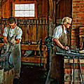 Blacksmith and Apprentice impasto Print by Steve Harrington