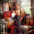 Blacksmith - The Smithy  Poster by Mike Savad
