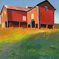 Bleak House Plantation Barn at Sunset Print by Catherine Twomey