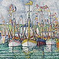 Blessing of the Tuna Fleet at Groix Poster by Paul Signac