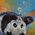 Blowing Bubbles Print by Michael Creese