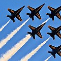 Blue Angels Overhead Print by Benjamin Yeager