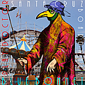 Blue Bonnet Play Doctor of Santa Cruz Boardwalk 20140309 square with text Print by Wingsdomain Art and Photography