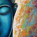 Blue Buddha Print by Gayle Utter