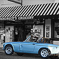 Blue classic car in Jamestown Poster by RicardMN Photography