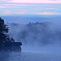 Blue Dawn Mist Print by Susan Leggett