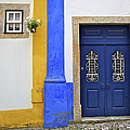 Blue Door of Medieval Obidos Poster by David Letts