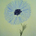 Blue Flower Poster by Christine Corretti