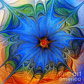 Blue Flower Dressed For Summer Print by Carlita Cooly