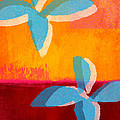 Blue Jasmine Print by Linda Woods