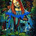 Blue Madonna In Tree Poster by Genevieve Esson