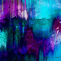 Blue Rain  abstract art   Poster by Ann Powell