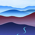 Blue Ridge Blue Road Poster by Catherine Twomey