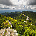 Blue Ridge Parkway Craggy Gardens Asheville NC - Craggy Pinnacle Print by Dave Allen