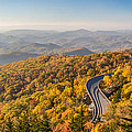 Blue Ridge Parkway in Peak Autumn Colors Print by Pierre Leclerc Photography